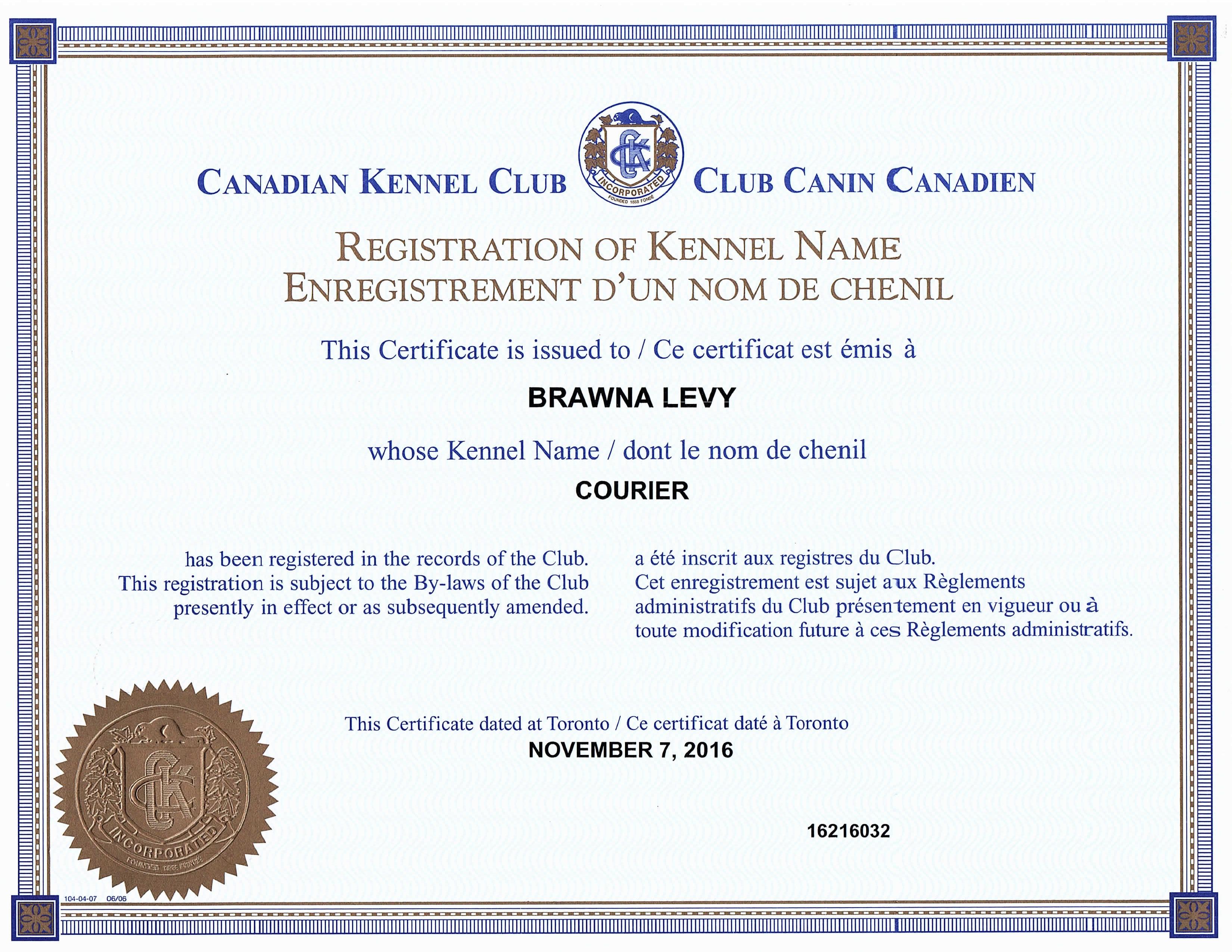CKC Registration